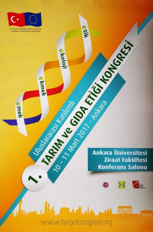 Uluslararası Türkiye 1. Tarım ve Gıda Etiği Kongresi