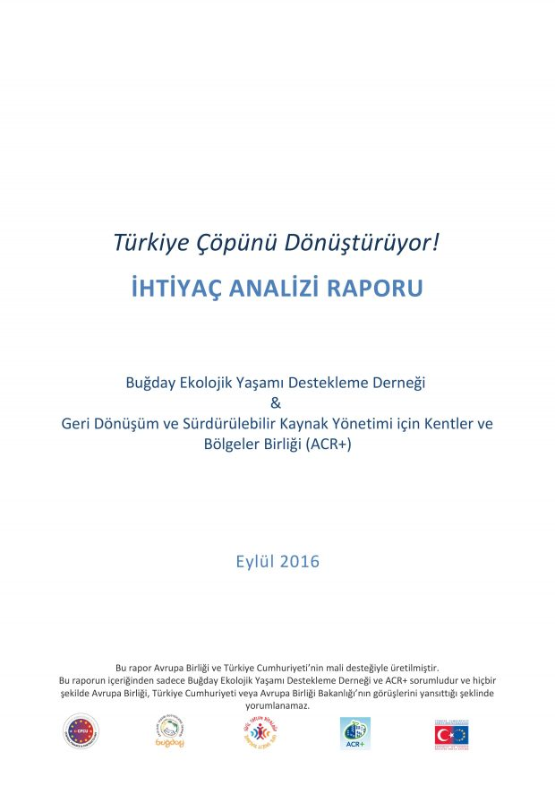 """""""Türkiye Çöpünü Dönüştürüyor!"""" Projesi Anket Raporunu yayınladık!"""