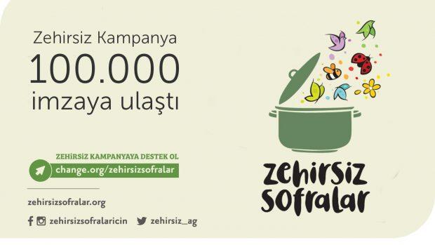 Zehirsiz Kampanya 100.000 İmzaya Ulaştı