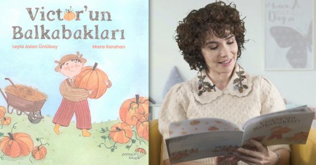 """Songül Öden """"Victor'un Balkabakları"""" kitabını çocuklar için okudu"""
